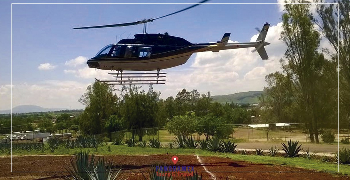 Vuelo en helicoptero a Tequila desde Guadalajara