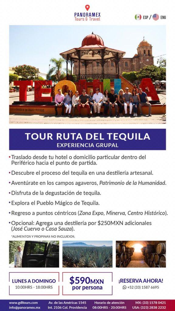 Tour Tequila en tours a Tequila desde Guadalajara Jalisco Mexico Cuanto cuesta la Ruta del Tequila